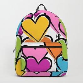 High Flying Rainbow Heart Balloon Bouquet Backpack