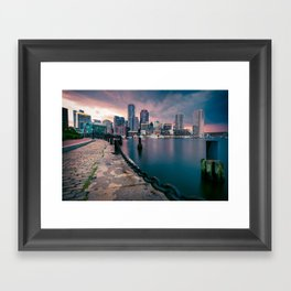 Boston, Massachusetts at Sunset 3 Framed Art Print