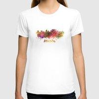 atlanta T-shirts featuring Atlanta skyline in watercolor by Paulrommer