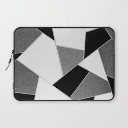Gray Black White Geometric Glam #1 #geo #decor #art #society6 Laptop Sleeve