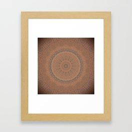 Tree Growth Ring Mandala Framed Art Print