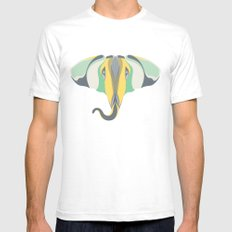 Elephant Gun Mens Fitted Tee SMALL White