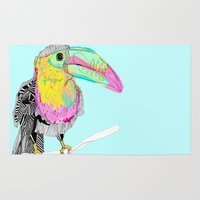 toucan Area & Throw Rugs featuring Toucan by caseysplace