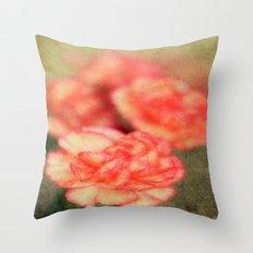Concrete Carnation Throw Pillow