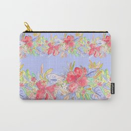 tropical hawaiian flowers periwinkle Carry-All Pouch