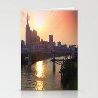 nashville Stationery Cards featuring Nashville Dusk by Andooga Design