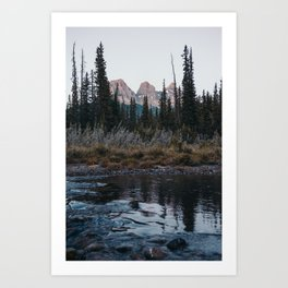 Three Sisters, Canmore Art Print