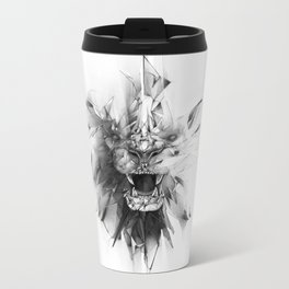 STONE LION Metal Travel Mug