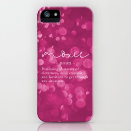Moxie Definition - Pink Bokeh iPhone Case
