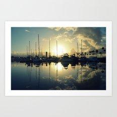marina morning Art Print