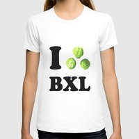 brussels T-shirts featuring I Choux Bruxelles - I sprout Brussels by Miss Pompompom