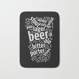 Beer Glass Word Bath Mat