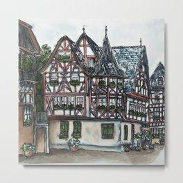 German streetscape ink drawing Metal Print