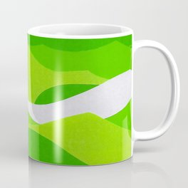 Waves - Lime Green Coffee Mug
