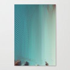 Under glitch sea  Canvas Print