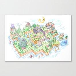 Super Mario Land 2 Map Canvas Print