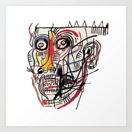 Basquiat Crazy Head Art Print