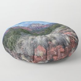 Sedona - Cool Vibes in the Desert Landscape in Northern Arizona Floor Pillow