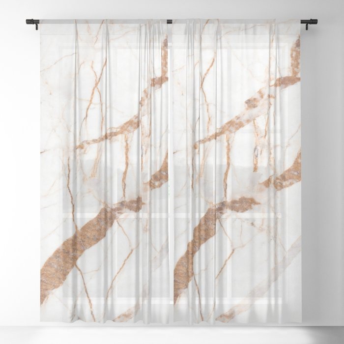 Marble Texture Design Sheer Curtain By Mariamarinova1