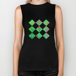 Green and violet mixed colors  Biker Tank
