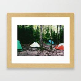 Mosquito Campsite Framed Art Print