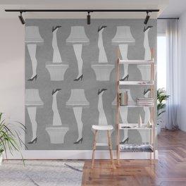 Leg Lamp Grey Wall Mural
