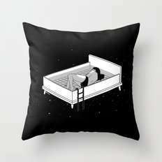 Bed for crying Throw Pillow