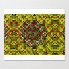 Mandala in structure pattern Canvas Print