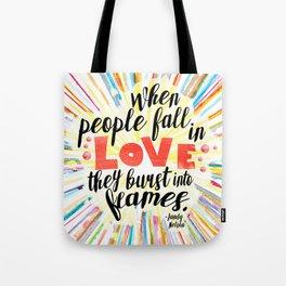 Ill Give You The Sun quote design Tote Bag
