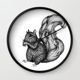 Nuts for a Friend Wall Clock