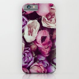 magnificent painted flowers iPhone Case