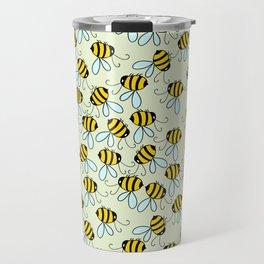 Bumble Bees of Summer Travel Mug