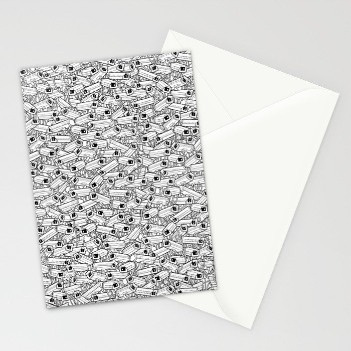 Surveillance Frenzy Stationery Cards