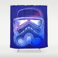trooper Shower Curtains featuring Pop Trooper by Scar Design