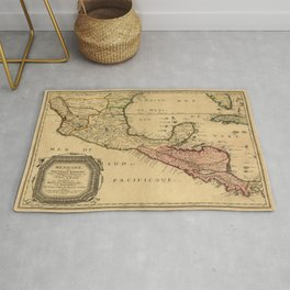 Map Of Central America 1656 Rug