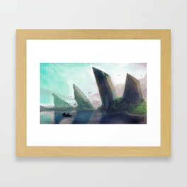 Dragonspine Lake Framed Art Print