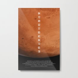 The Martian Metal Print