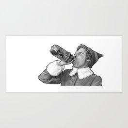 Buddy the Elf Art Print