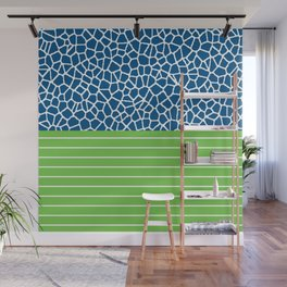 staklo (blue with green) Wall Mural