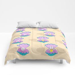Space Birth of Venus | Astronaut Seashell | Pearl in Seashell | Under the Sea | pulps of wood Comforters