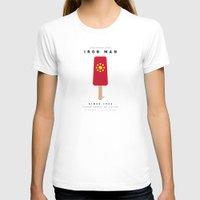 aquaman T-shirts featuring My SUPER ICE POP- No06 - IRON MAN by Chungkong