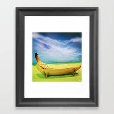 Dachshund Banana Framed Art Print