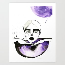Kim-Chi posing and voguing Art Print