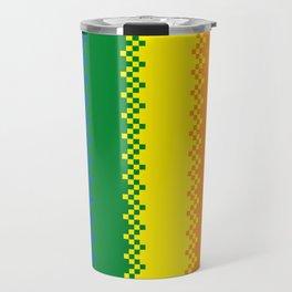 pixel pride- gay pride flag Travel Mug