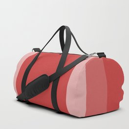 Reddish Square Design Duffle Bag