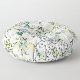 PASTEL FLORALS Floor Pillow