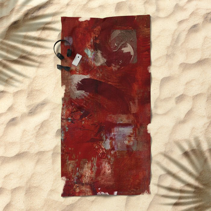 Burgundy Beach Towel
