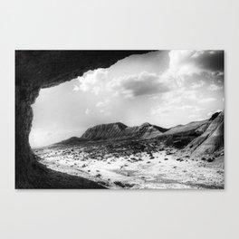 Bardenas Reales desert - the rock Canvas Print