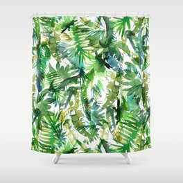 VIBE of the Jungle  {A-green} Shower Curtain