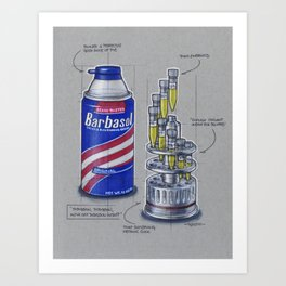 Barbasol Can Art Print